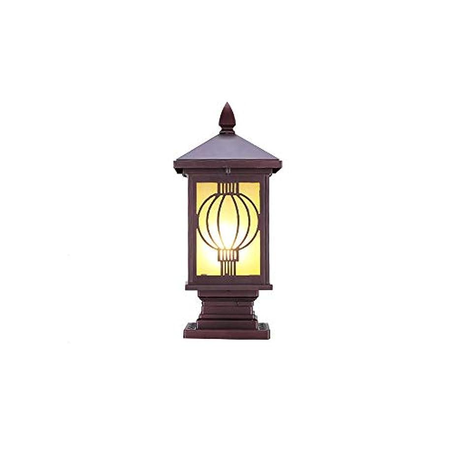 狂ったパイプライン民間Pinjeer ヴィンテージクリエイティブe27ランタンパターンガラス屋外ポストライトヨーロッパip54防水アンチラストダイカストアルミコラムLmapガーデンドアローンヴィラ造園装飾的な柱ライト (サイズ : Height 45cm)