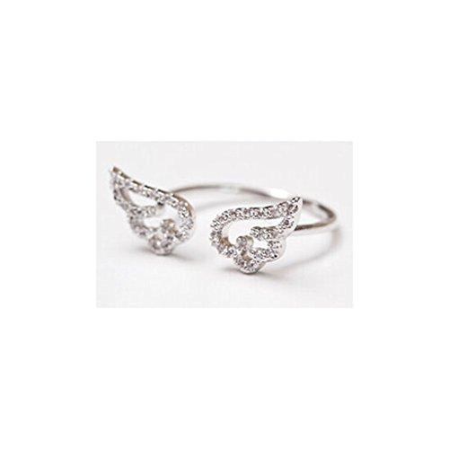 [比翼堂] レディース リング 「 天使の翼 指輪 」 サージカル ステンレス 最高級フランネルケース付き 磨きクロス付き