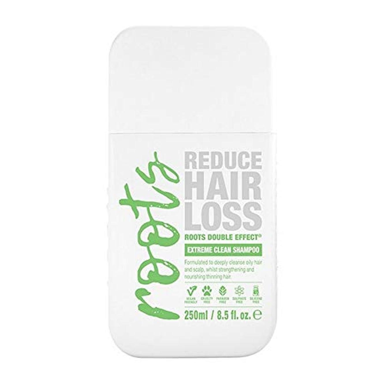 表向き良さケント[Roots ] 根のダブル効果極端なクリーンシャンプー250Ml - Roots Double Effect Extreme Clean Shampoo 250ml [並行輸入品]