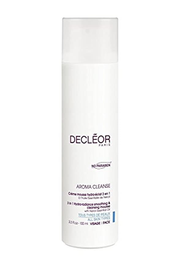弾力性のある防水整然としたデクレオール(DECLEOR) 3 イン 1 クレンジングムース 106g(洗顔料)