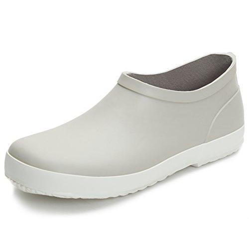 Hellozebra ショートレインシューズ レインブーツ雨靴レディースベリーショートブーツ女性 雨対策 防水防滑通勤通学用 超軽量柔らかシンプルで着脱便利 23.0cm
