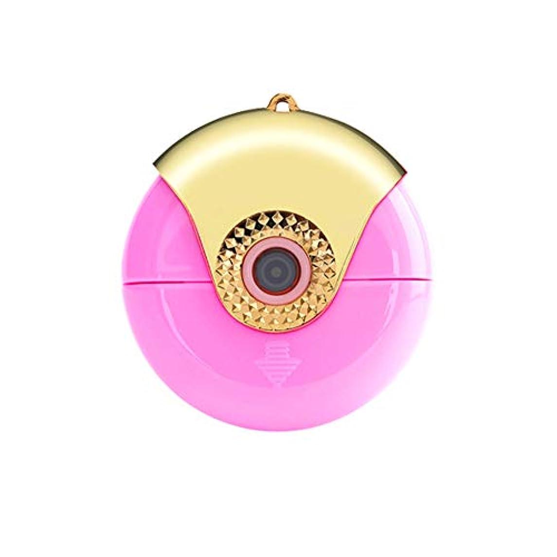 湿った法廷お願いしますiPhoneイオスのマイクロUSBポート紫色の霧アロマセラピーのための携帯電話の顔フェイシャルスチーム加湿ツールポータブルミニナノミスト噴霧器
