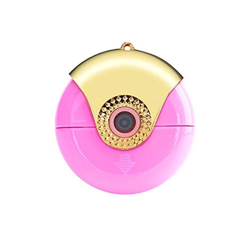 電池棚貴重なiPhoneイオスのマイクロUSBポート紫色の霧アロマセラピーのための携帯電話の顔フェイシャルスチーム加湿ツールポータブルミニナノミスト噴霧器
