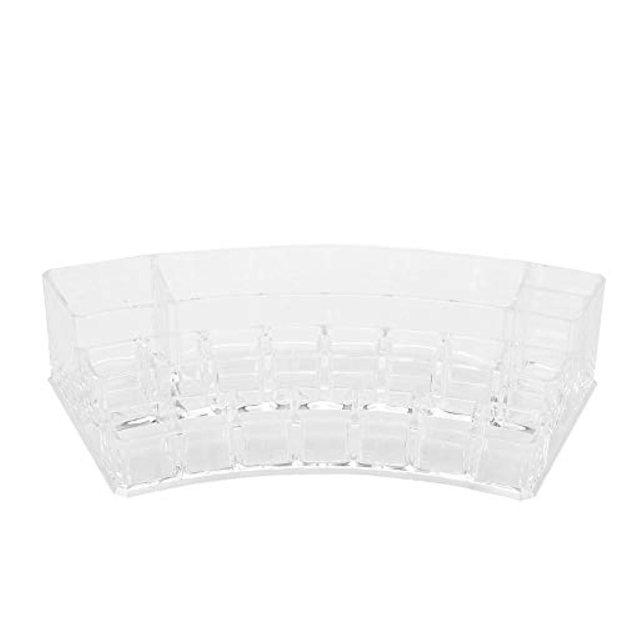 インストールダブル再集計19グリッドプラスチック収納ボックス - ディスプレイケースネイルアートタトゥーツールオーガナイザー化粧品ディスプレイ