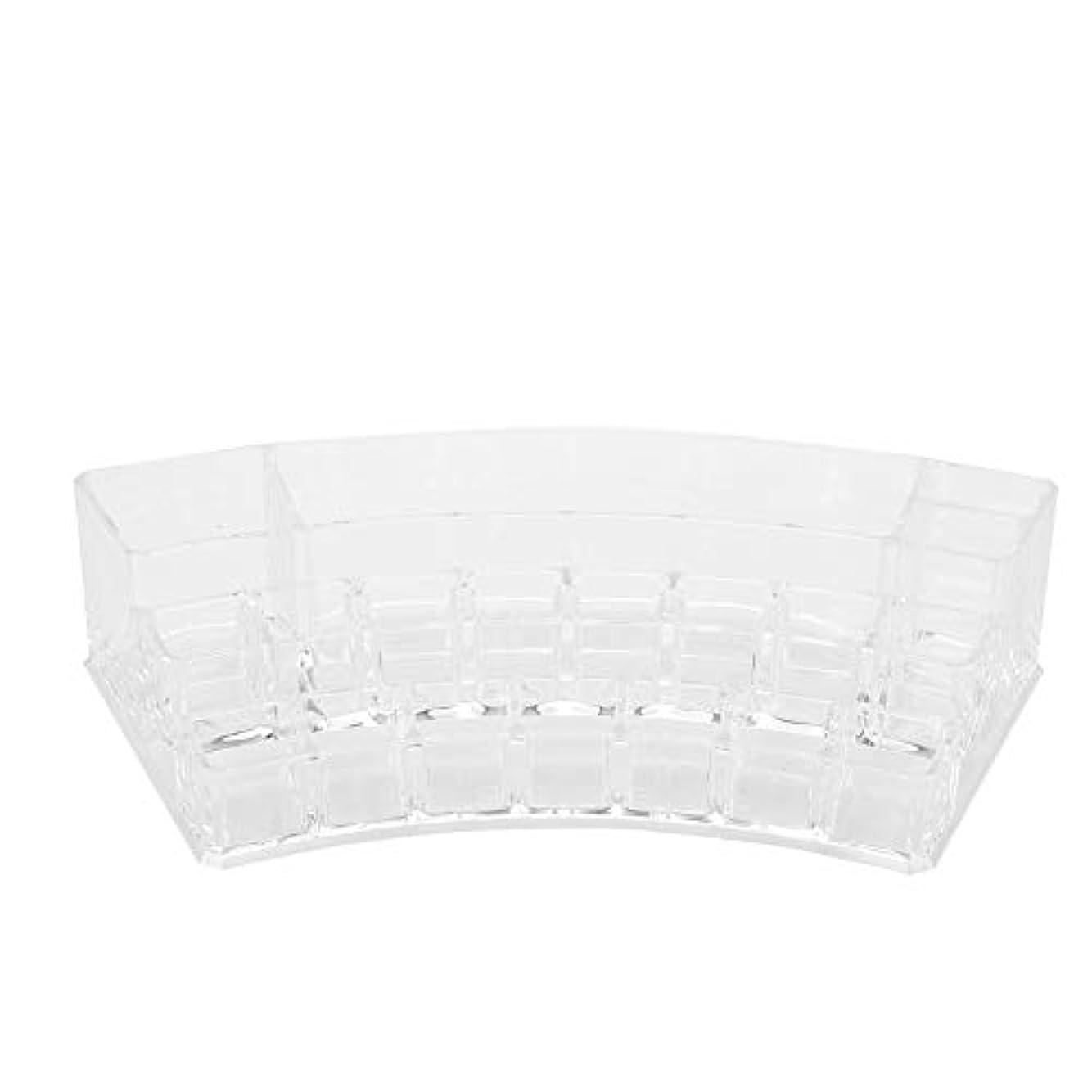 乳白色国家職業19グリッドプラスチック収納ボックス - ディスプレイケースネイルアートタトゥーツールオーガナイザー化粧品ディスプレイ