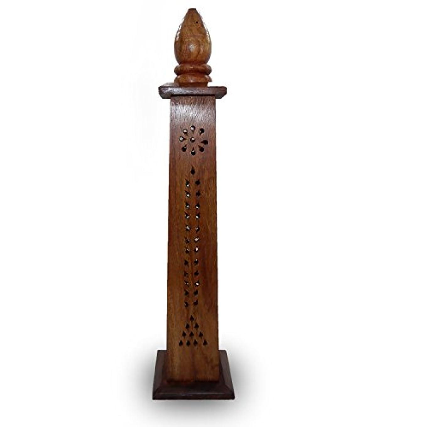 喉が渇いたチロ小説Thanks Givingプレゼントに愛する人、木製香炉タワーSticks円錐ホルダースタンドAshキャッチャーwith Hand Carvings Home Fragranceアクセサリー
