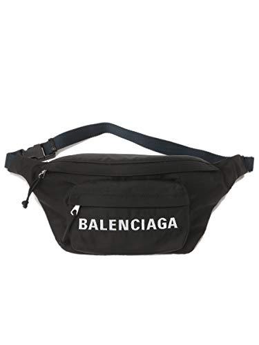 (バレンシアガ) BALENCIAGA ナイロン ロゴ刺繍 ウエストバッグ [【BC5288629F91X】]ブラック / - [並行輸入品]