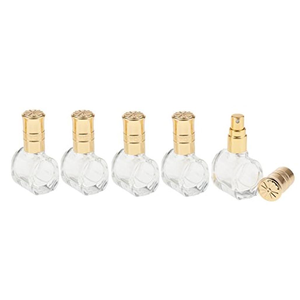 チャンピオンシップ泣いているおもしろいFenteer 5個 ガラス ボトル 空ボトル 詰替え オイル 香水 アトマイザー スプレーボトル