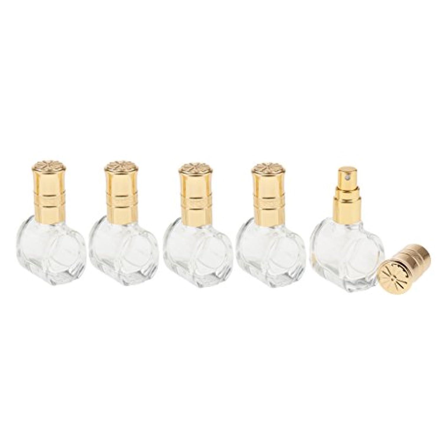 フライカイト誓約ベーリング海峡Fenteer 5個 ガラス ボトル 空ボトル 詰替え オイル 香水 アトマイザー スプレーボトル