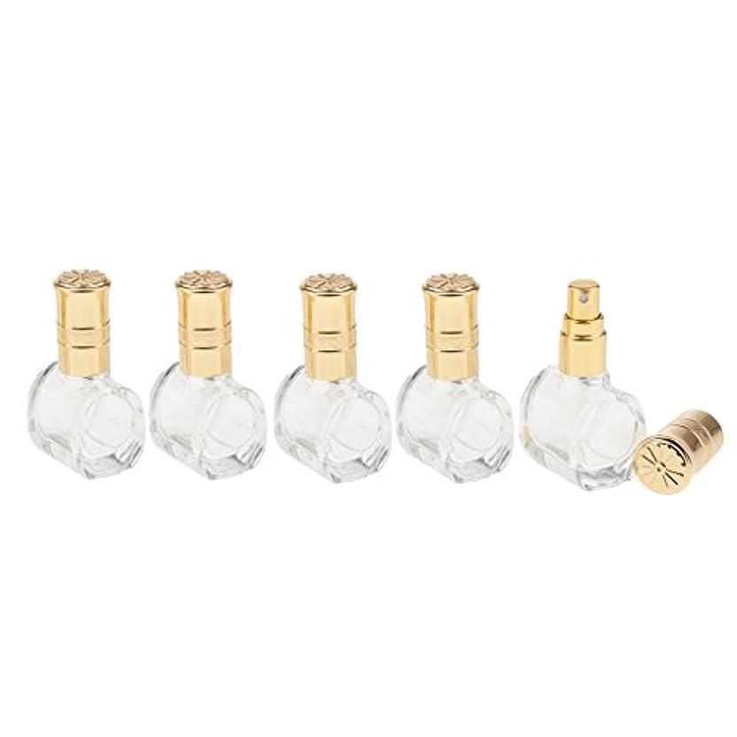 一節防止矢Fenteer 5個 ガラス ボトル 空ボトル 詰替え オイル 香水 アトマイザー スプレーボトル