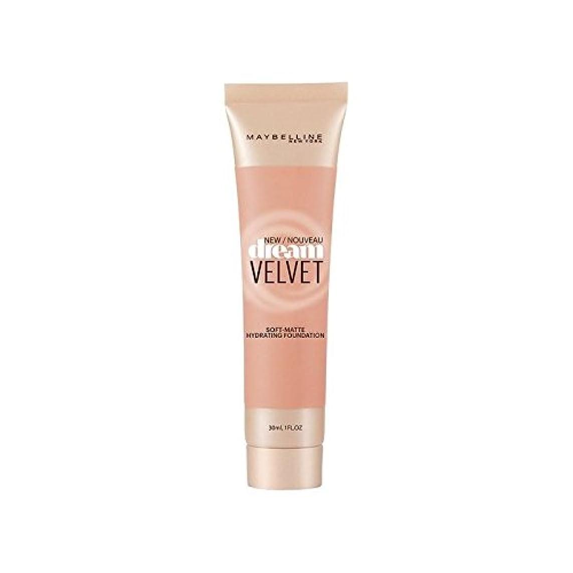 ポジションアンドリューハリディアラートMaybelline Dream Velvet Foundation Honey Beige (Pack of 6) - メイベリンの夢のベルベット基盤ハニーベージュ x6 [並行輸入品]