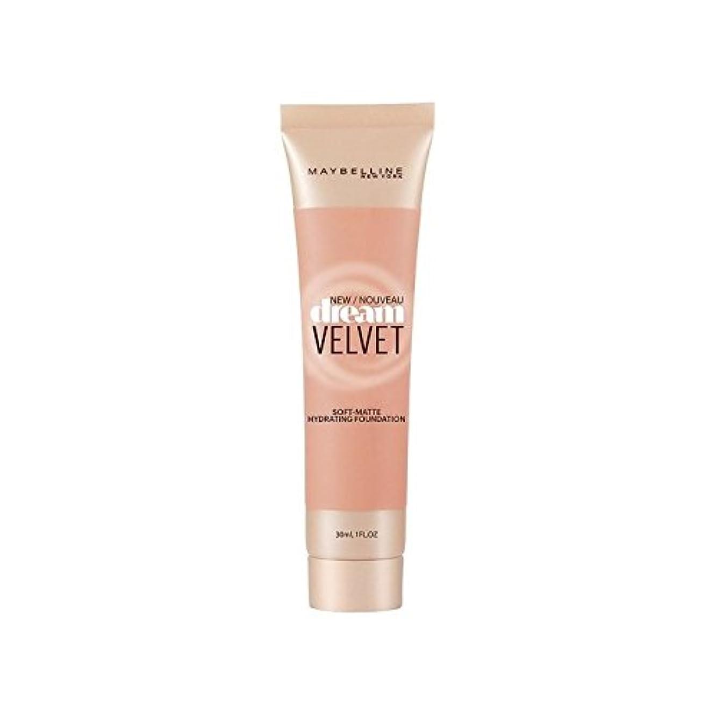 強化する勢い伴うMaybelline Dream Velvet Foundation Honey Beige (Pack of 6) - メイベリンの夢のベルベット基盤ハニーベージュ x6 [並行輸入品]