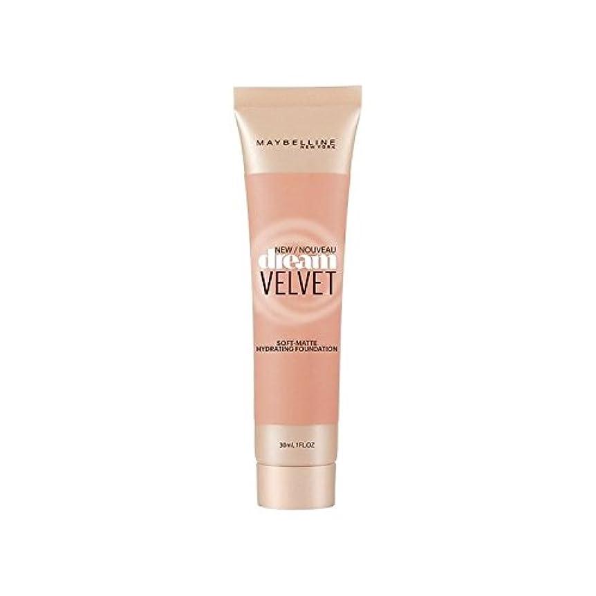 秋検出器ロールメイベリンの夢のベルベット基盤ハニーベージュ x2 - Maybelline Dream Velvet Foundation Honey Beige (Pack of 2) [並行輸入品]
