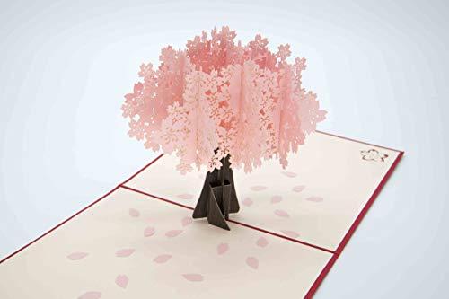開くと、桜の花びらがひらり。大好きなあの人に贈りたい、春のポップアップカード。