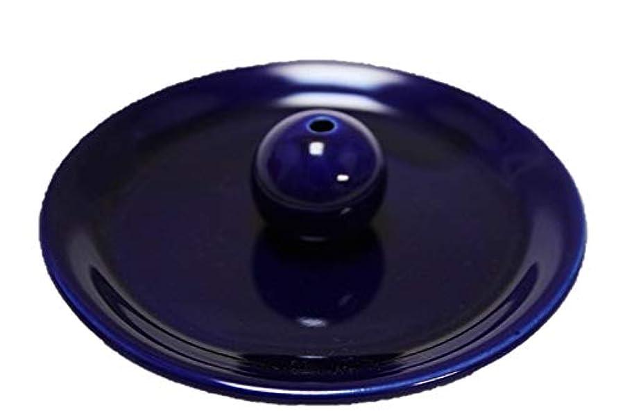 目に見える楕円形風味瑠璃色 9cm香皿 日本製 製造?直売 お香立て お香たて 陶器