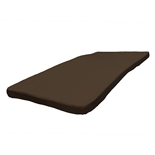 低反発マットレス シングル 密度40D 極厚8cm 洗える カバー 【ブラウン】