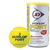 DUNLOP(ダンロップ) プレッシャーライズド FORT(フォート)(2個入)[30缶]テニスボール