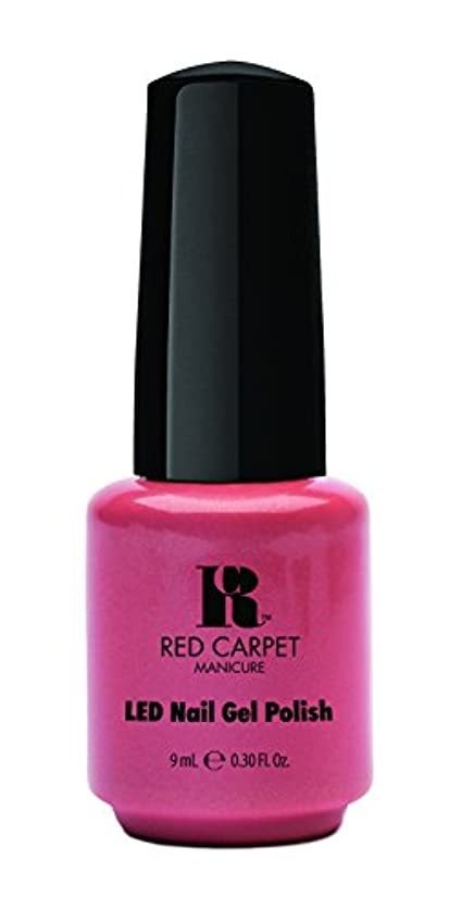 小切手原始的なパトワRed Carpet Manicure - LED Nail Gel Polish - Mel-Rose - 0.3oz/9ml