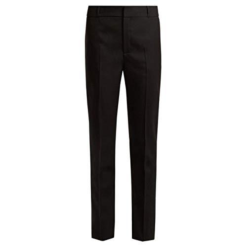 (イヴ サンローラン) Saint Laurent レディース ボトムス・パンツ スキニー・スリム Mid-rise slim-leg wool-gabardine trousers [並行輸入品]