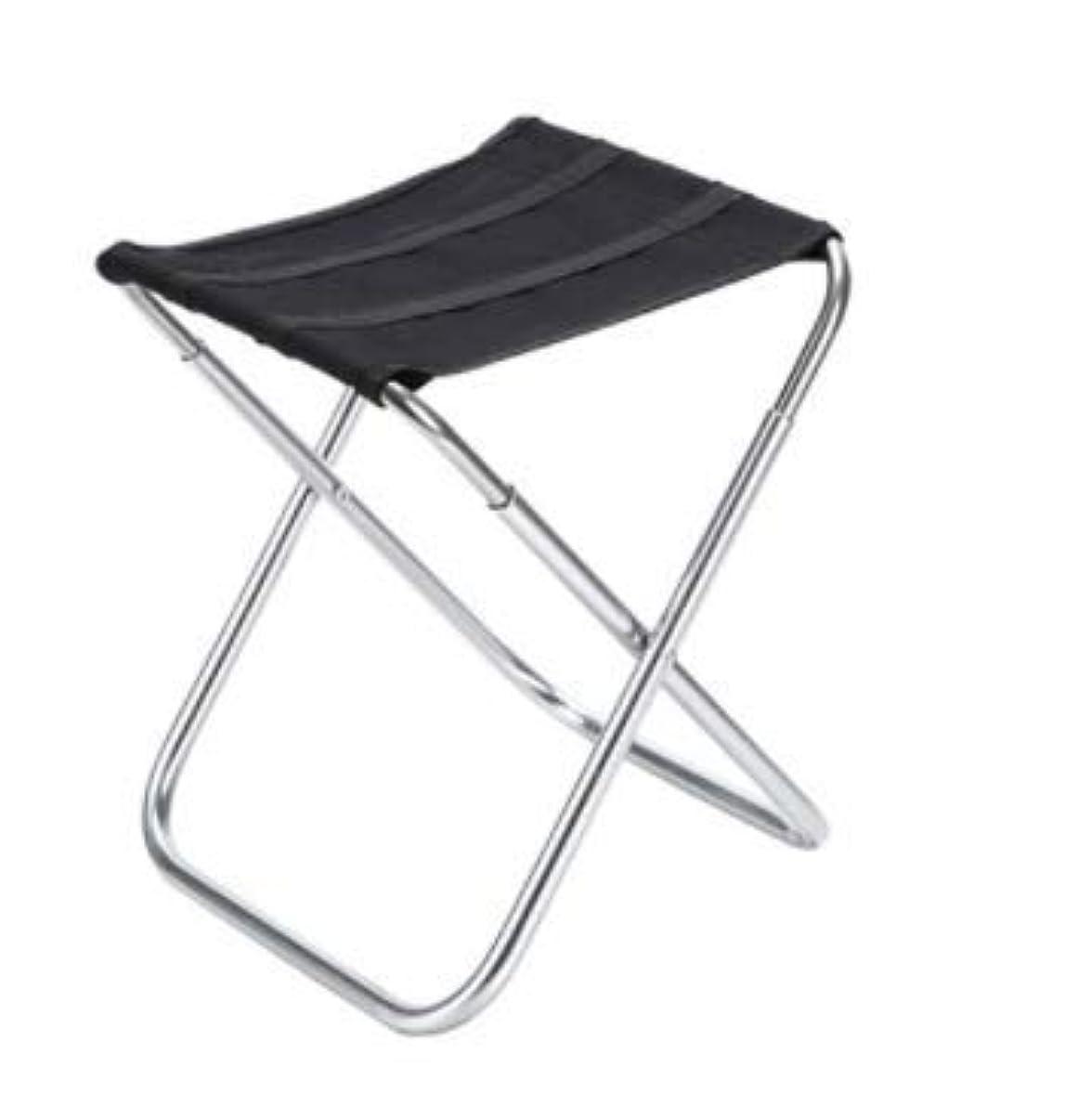 愛情深い明確な通信網アルミ釣り椅子釣り椅子折りたたみスツール屋外レジャーチェア (Color : ブラック)