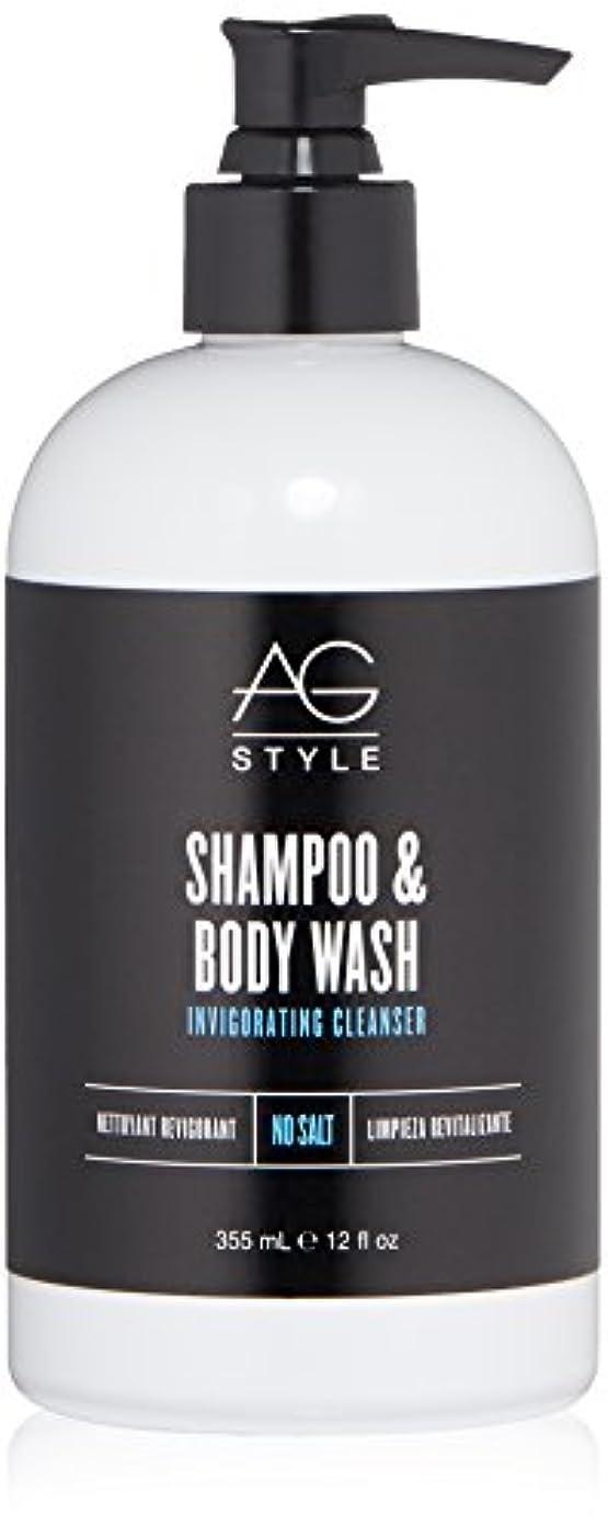 さわやか料理石膏AG Hair スタイルシャンプー&ボディウォッシュ爽快クレンザー12液量オンス 12 fl。オンス