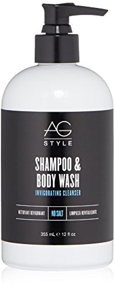 抽象化ライン第五AG Hair スタイルシャンプー&ボディウォッシュ爽快クレンザー12液量オンス 12 fl。オンス