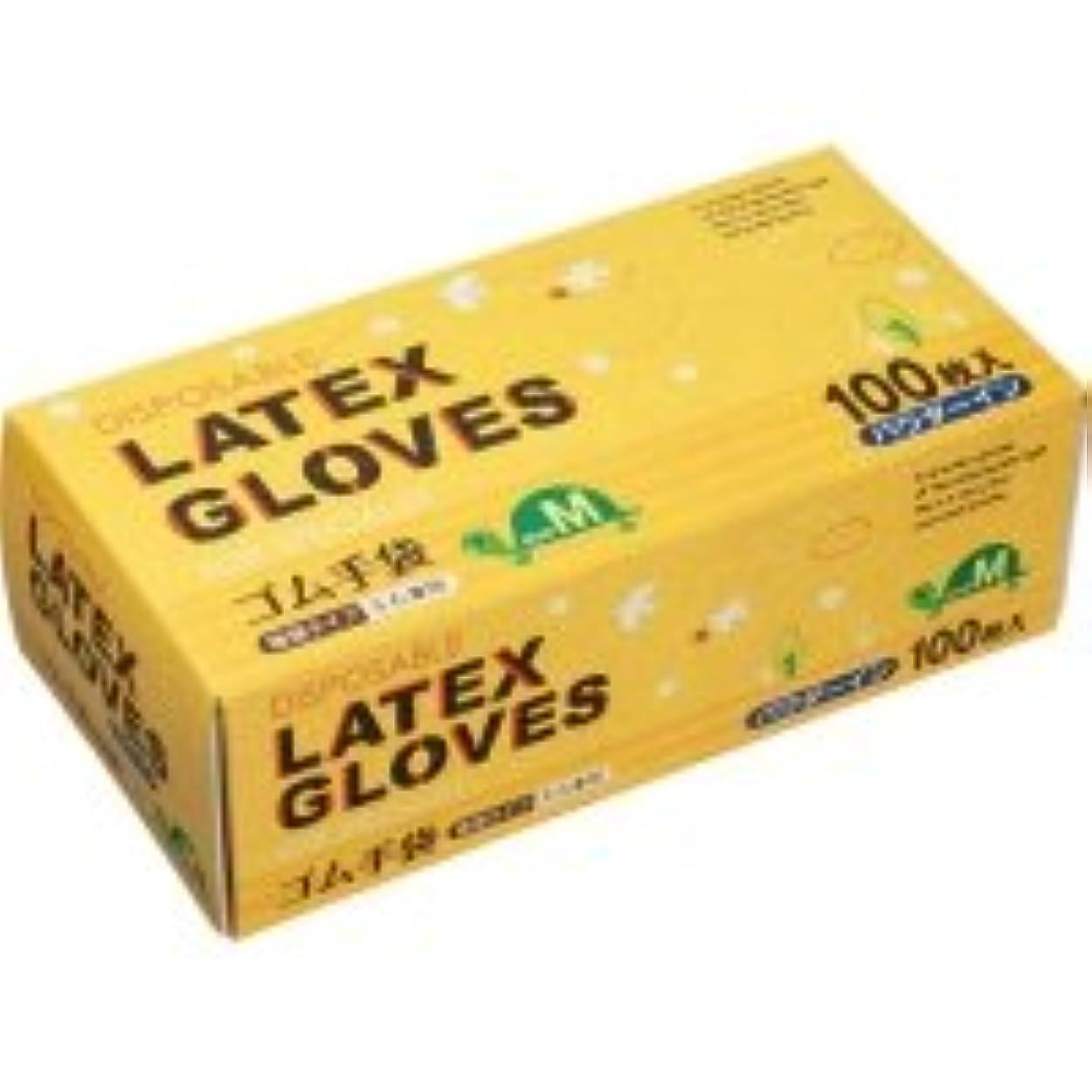 反映するウイルス過度のノーブランド ラテックス手袋 パウダーイン M 1箱(100枚)