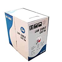 QOFF イーサネットケーブル/マルチケーブル/LANケーブル(CAT5Eデータケーブル)、銅クラッドアルミ(CCA)、銅クラッド鋼(CCS)、長さ:305M、直径:0.38ミリメートル、0.4ミリメートル (Color : Color4)