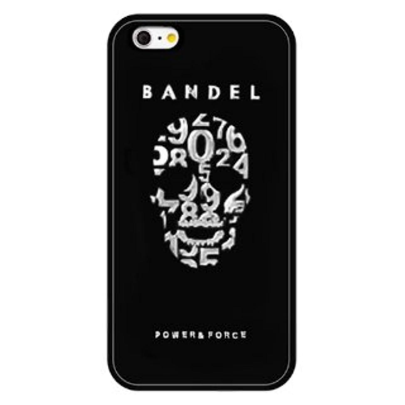 ジェム責任者鳴り響くバンデル(BANDEL) スカル iPhone 7専用 シリコンケース [ブラック×シルバー]