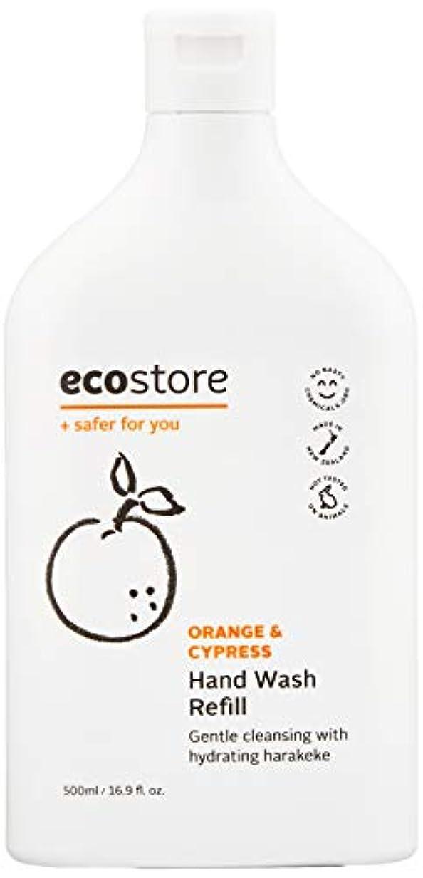 解釈日付付き器用ecostore(エコストア) ハンドウォッシュ 【オレンジ&サイプレス】 500ml 詰め替え用 液体タイプ
