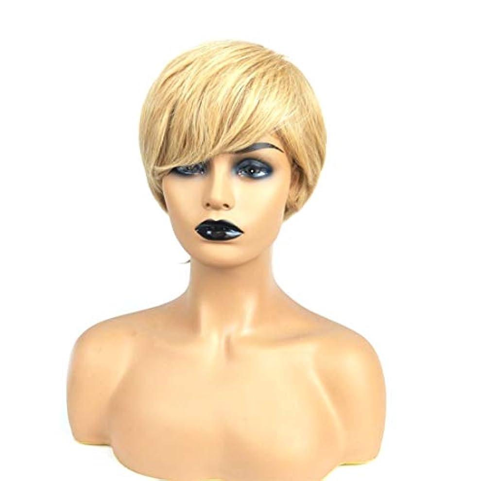 地下下る不可能なKerwinner 短い前髪のかつら女性のための平らな前髪の合成かつらとストレートウィッグ