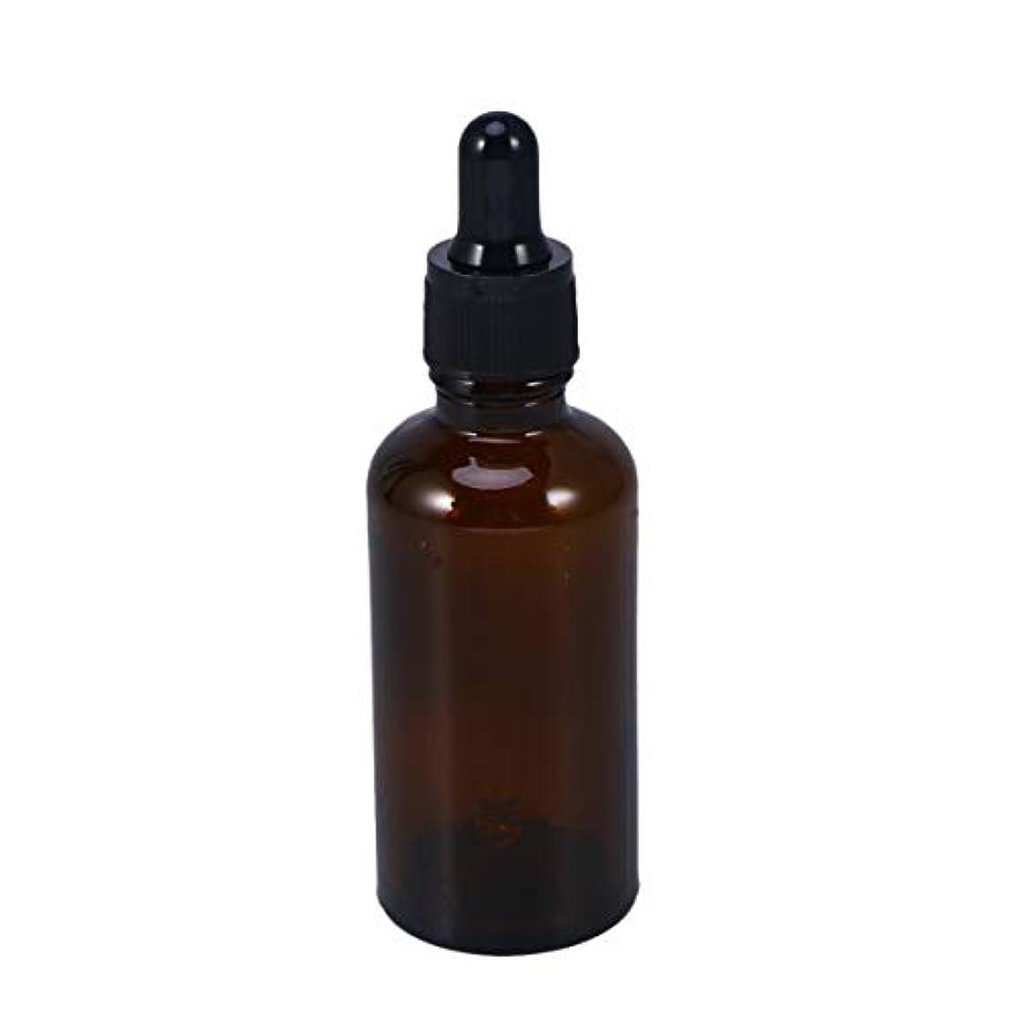 ストリームスクリュー貨物Frcolor 遮光瓶 スポイト遮光瓶 50ml スポイト付き アロマボトル ガラス 茶色 香水 保存用 詰替え エッセンシャルオイル 保存容器 2本セット