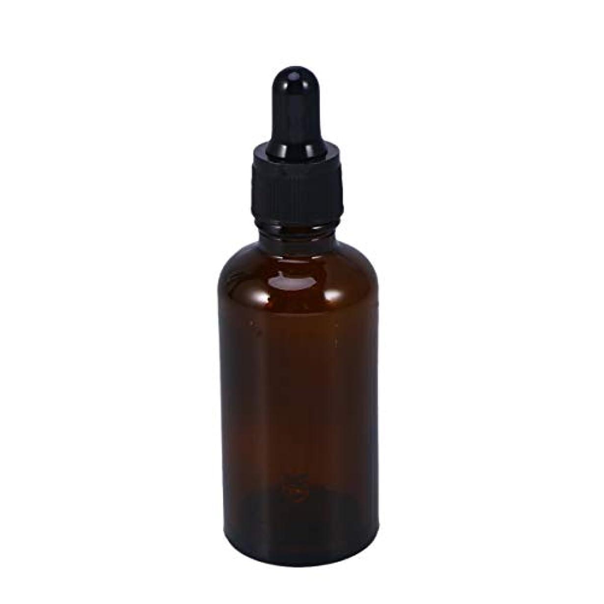 ダウンシエスタ結論Frcolor 遮光瓶 スポイト遮光瓶 スポイト付き アロマボトル 50ml 保存容器 エッセンシャルオイル 香水 保存用 詰替え ガラス 茶色