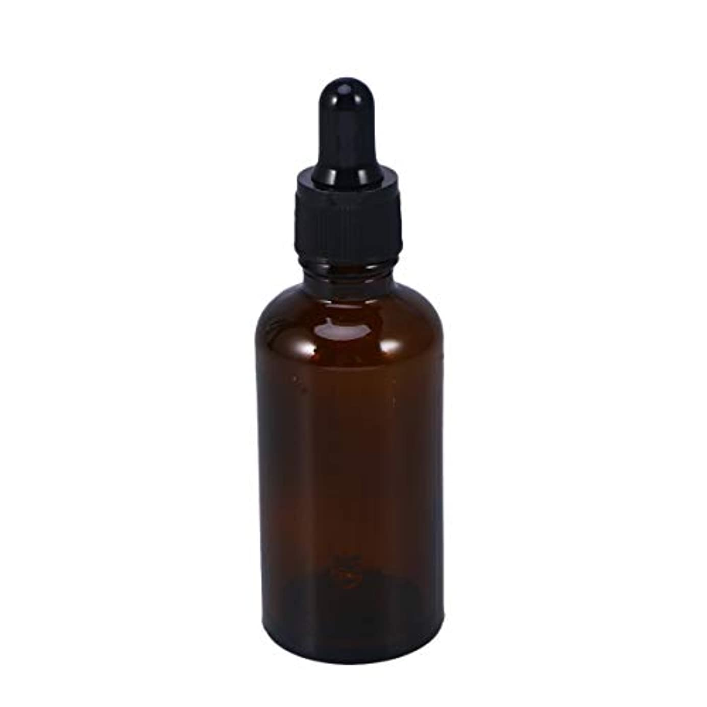 のみできれば鎮静剤Frcolor 遮光瓶 スポイト遮光瓶 50ml スポイト付き アロマボトル エッセンシャルオイル 香水 保存容器 ガラス製 茶色 5本セット
