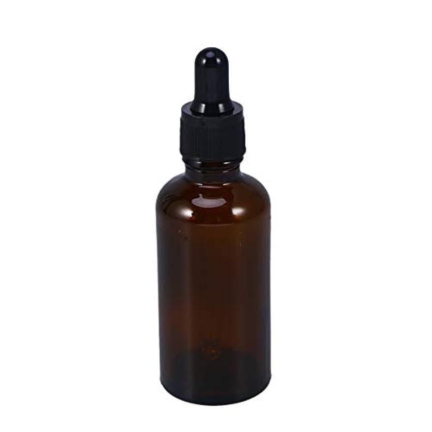 Frcolor 遮光瓶 スポイト遮光瓶 スポイト付き アロマボトル 50ml 保存容器 エッセンシャルオイル 香水 保存用 詰替え ガラス 茶色