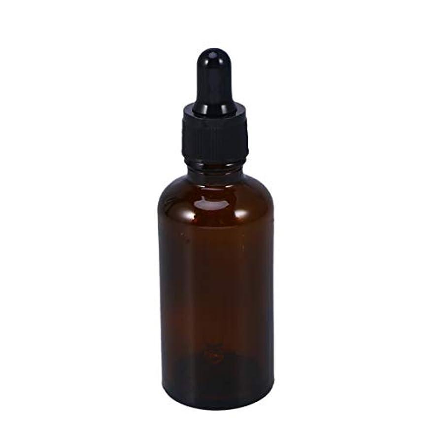 パス効能ブラウスFrcolor 遮光瓶 スポイト遮光瓶 スポイト付き アロマボトル 50ml 保存容器 エッセンシャルオイル 香水 保存用 詰替え ガラス 茶色