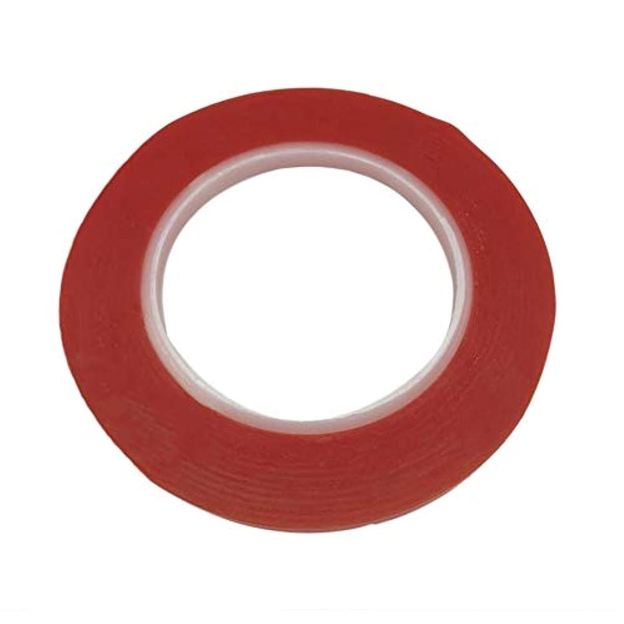 宣言重要な赤ちゃんプロフェッショナル25メートル防水赤透明両面強力粘着高温レジスト5ミリメートルテープ修復ツール(Color:red)