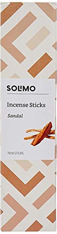 結び目夏芸術Amazon Brand - Solimo Incense Sticks, Sandal - 70 sticks/pack