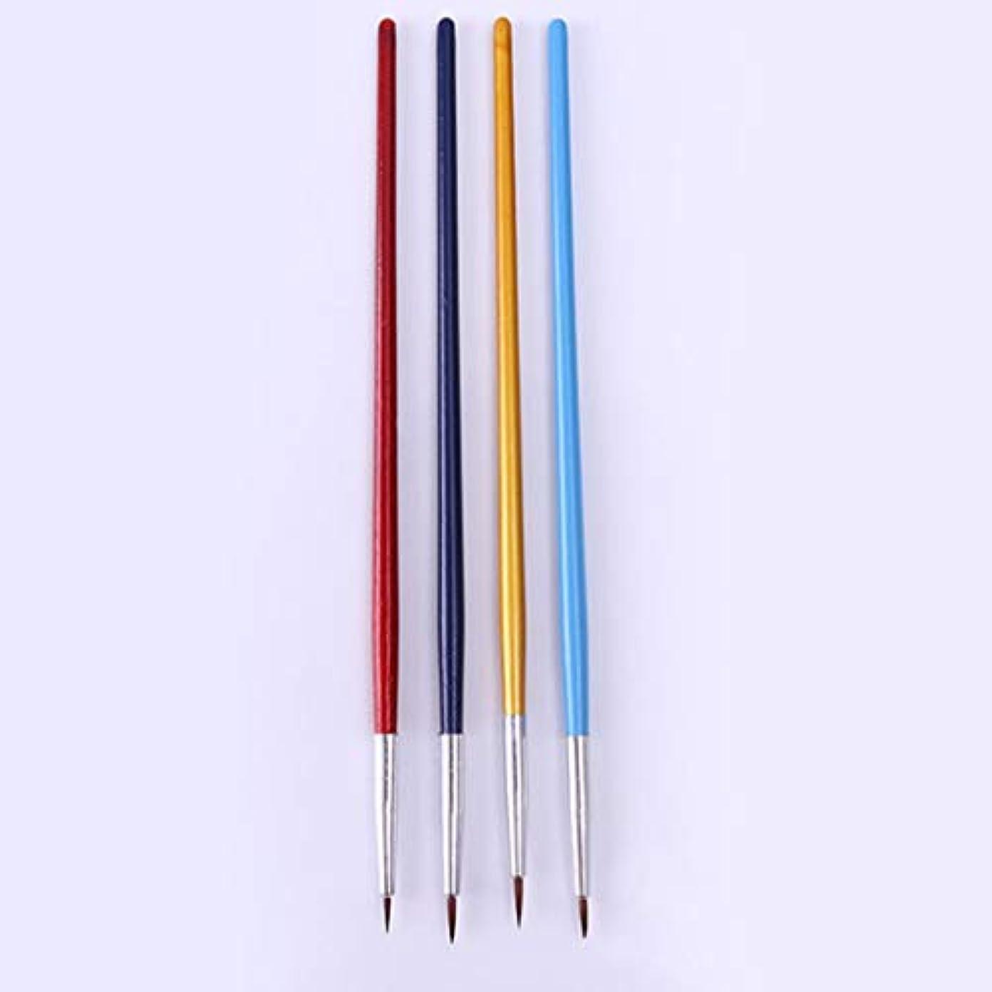 アトミック宿命業界Yoshilimen 4つのブラシのブラシブラシをセットします(None Picture Color)