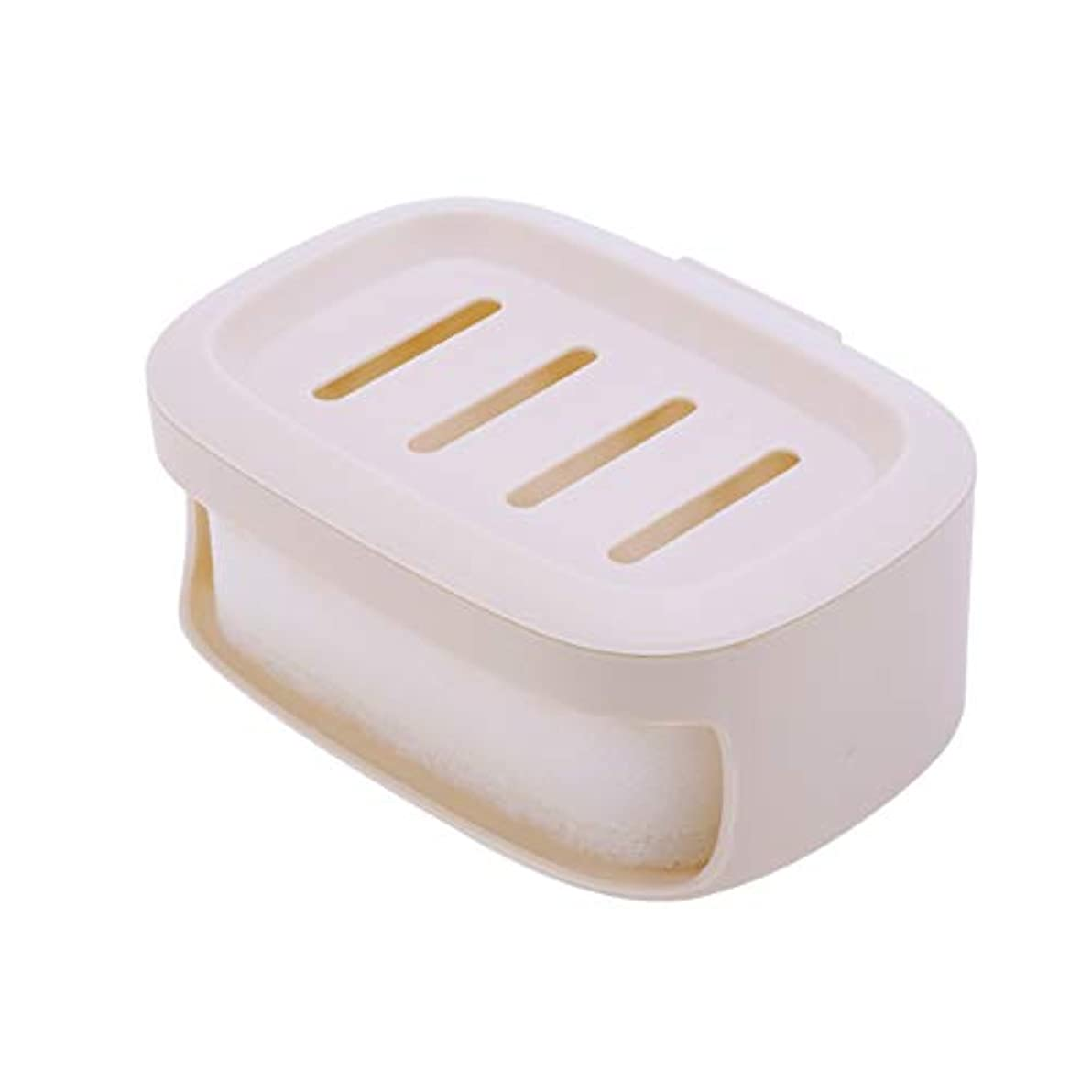 ひまわり表向きとティームHEALIFTY ソープボックス防水ソープコンテナ浴室ソープ収納ケースソープホルダー(カーキ)