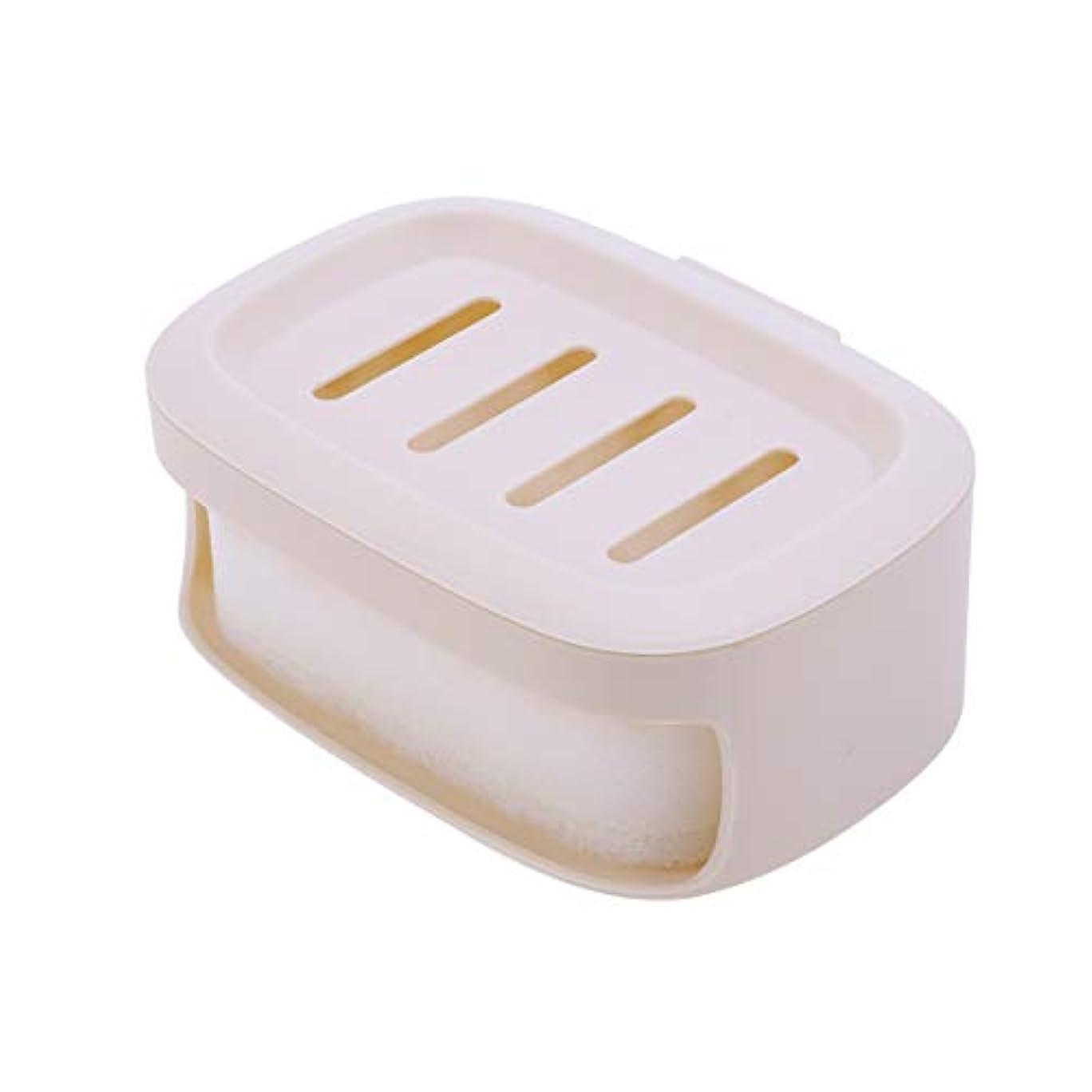 オンス消費者複雑Healifty せっけん箱防水シールせっけんコンテナ二重層せっけん収納ケース(カーキ)