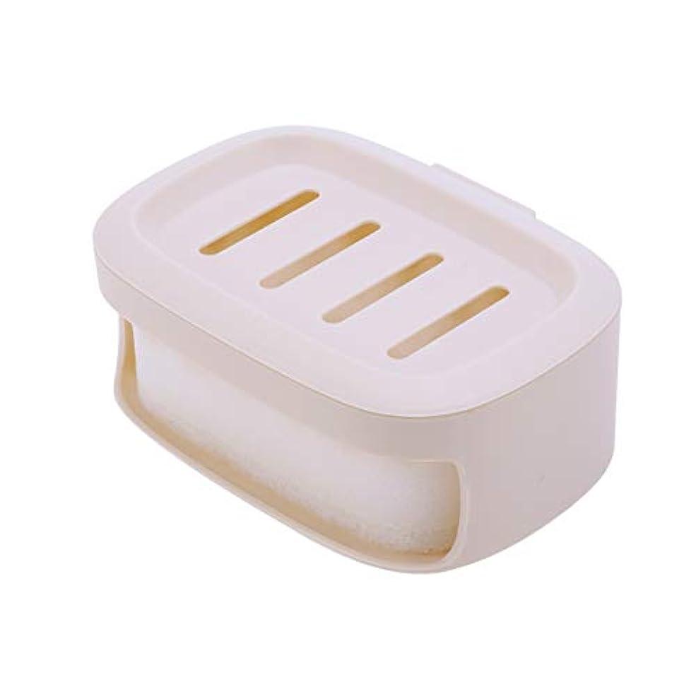 さびたキャップ気質Healifty せっけん箱防水シールせっけんコンテナ二重層せっけん収納ケース(カーキ)