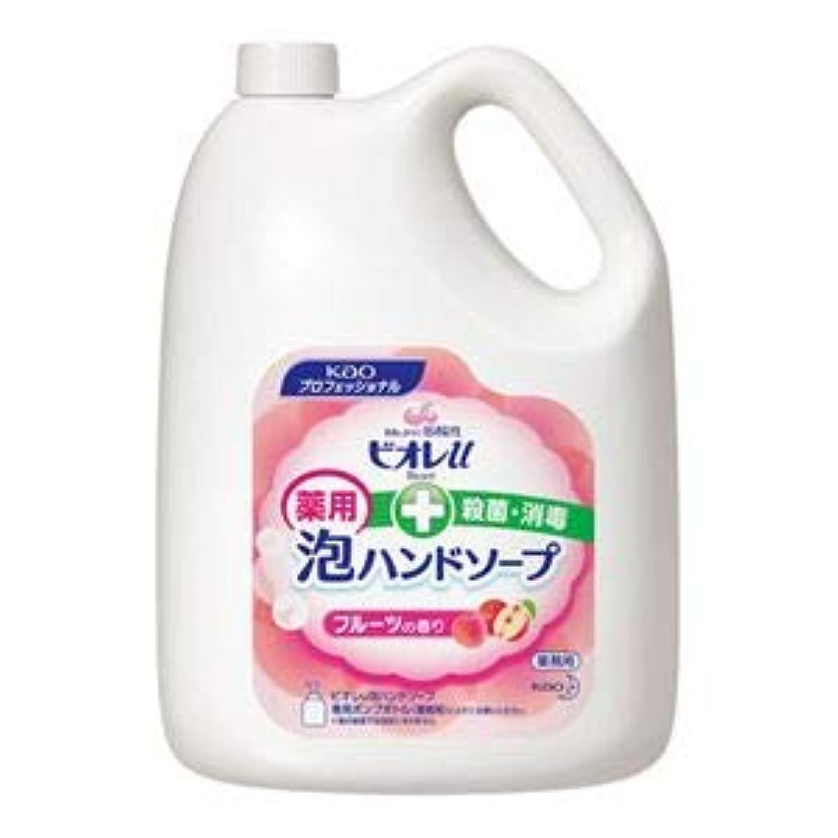 シャワー記憶に残るお金ゴム花王 ビオレU泡ハンドソープ フルーツ 4L 3本