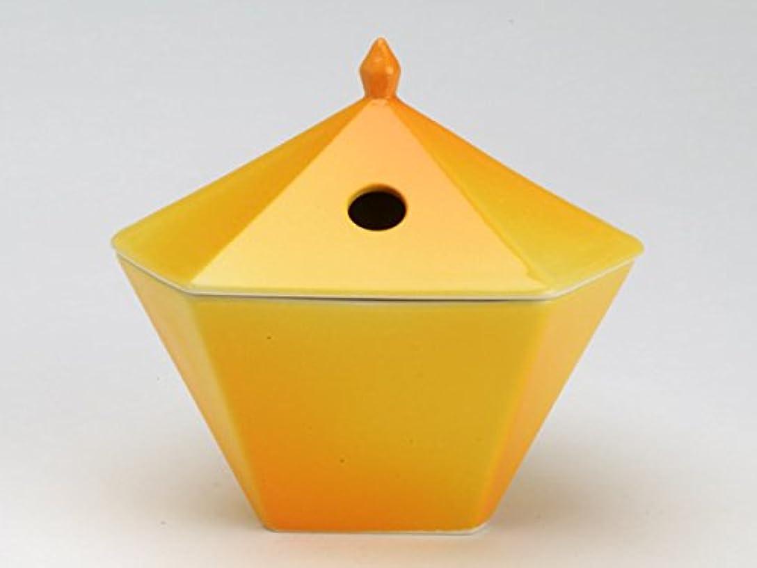 うねるステッチ忍耐縁香炉 黄