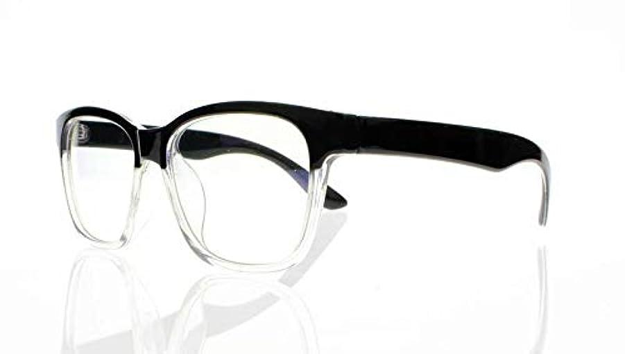 宿命ジャーナルリラックスしたFidgetGear 6色亀の花ビッグフレームレトロアセテート木製老眼鏡+ 1.0?+ 4.0 ブラック&クリア