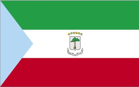 Annin Flagmakers 190129 3 ft. x 5 ft. Indoor and Parade Colonial Equatorial Guinea Government Flag with Fringe