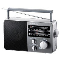 OHM AM/FMポータブルラジオ RAD-F770Z 木目調