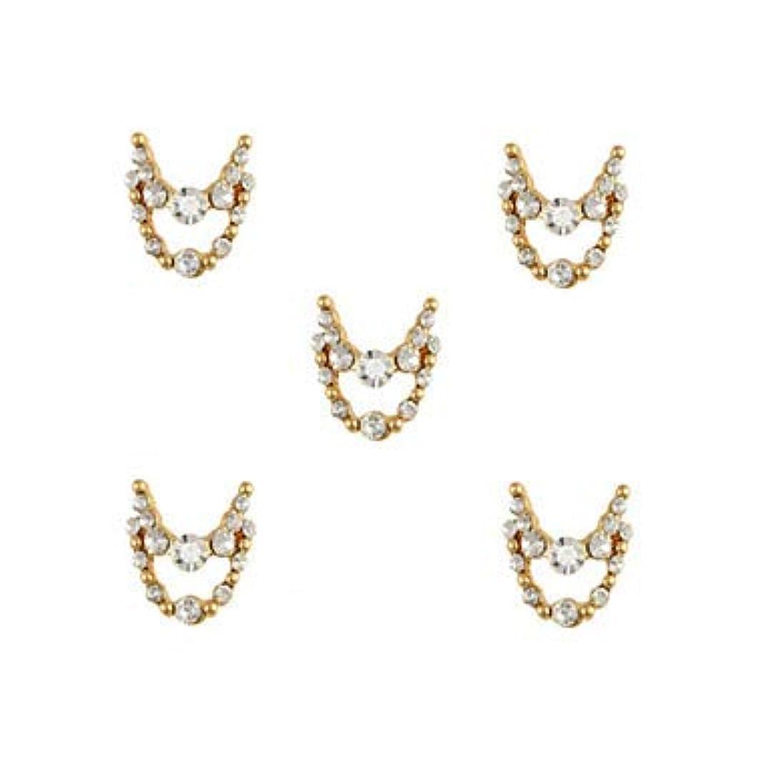 素人審判バンケット明確なラインストーン3dチャーム合金ネイルアートの装飾が付いている10個入りゴールドネックレスブラブラ
