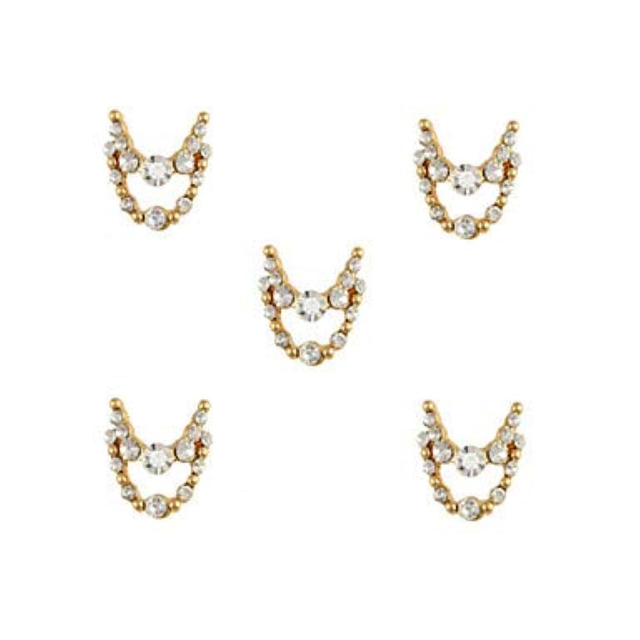 カスタム支払い雄弁家明確なラインストーン3dチャーム合金ネイルアートの装飾が付いている10個入りゴールドネックレスブラブラ