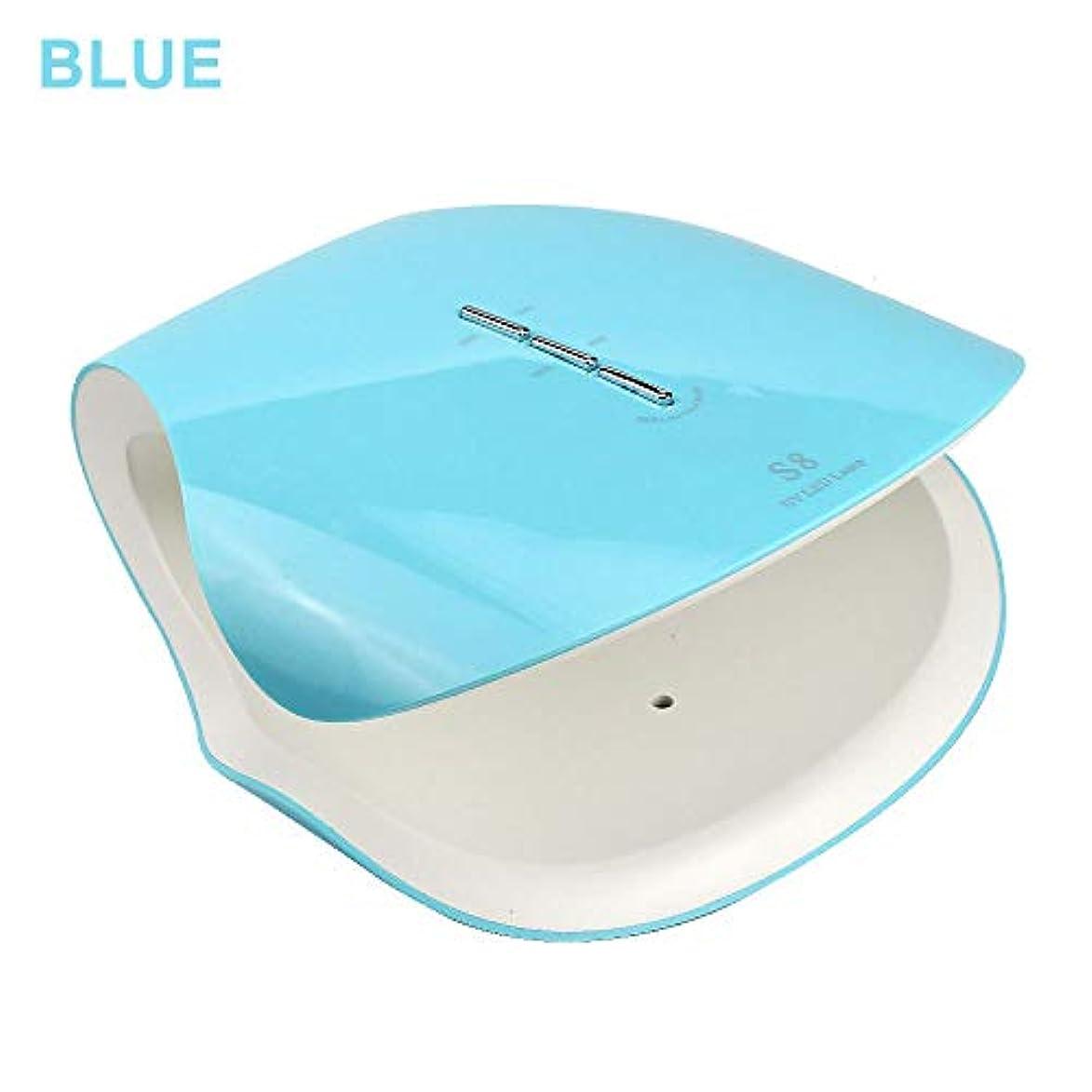 クリップアンソロジー西Led UVネイルドライヤー、48ワットスマートネイル光線療法機30 s 60 s 99 sタイマープロフェッショナル機マニキュア/ペディキュア,Blue